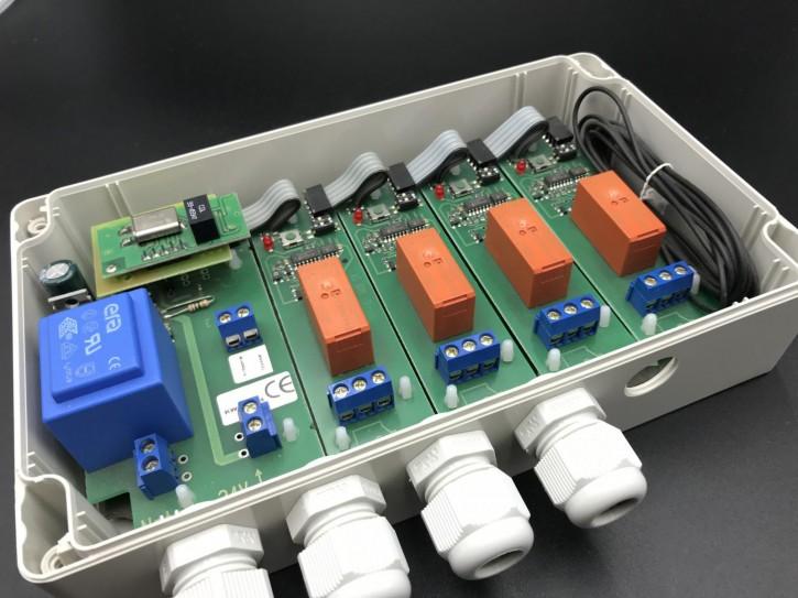 E300 Empfänger im IP65 – Gehäuse 868,3 MHz / 4 Kanäle
